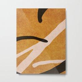 ABSTRACT ALPHABET / Script T Metal Print