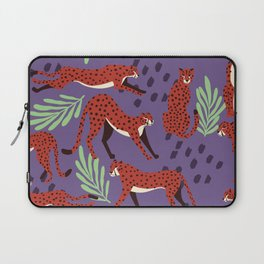 Dark cheetah pattern Laptop Sleeve