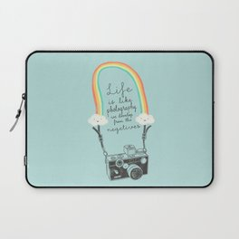 Life is like Photography Laptop Sleeve