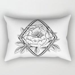 paeony With rhombus  Rectangular Pillow