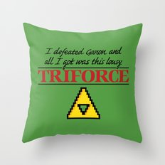 Lousy Triforce Throw Pillow