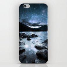 Magical Mountain Lake Steel Blue Gray iPhone & iPod Skin