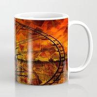 ferris wheel Mugs featuring Ferris wheel by  Agostino Lo Coco