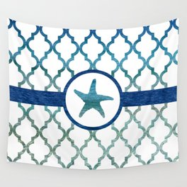 Starfish: Tropical Water Moroccan Pattern Wall Tapestry