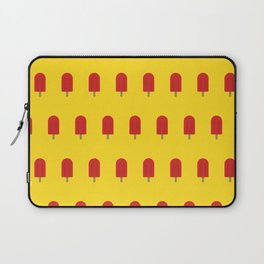 Red Popsicles - Yellow Background Laptop Sleeve