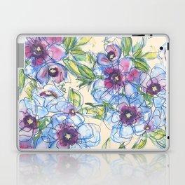 Big Blue Poppies Laptop & iPad Skin