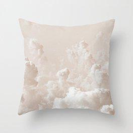 Light Academia Aesthetic white clouds Throw Pillow