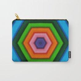 Colored hexagon - hexagono colorido Carry-All Pouch