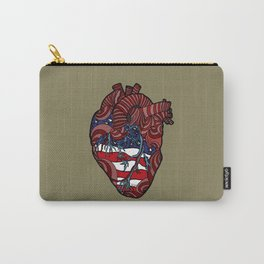 """Flag Heart"" - American Flag, Human Heart - Labor Day - www.davidjdiamant.com Carry-All Pouch"