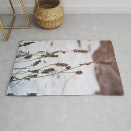 Plants in the snow Rug