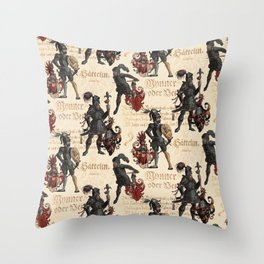 Medieval Knights in Shining Armor Throw Pillow
