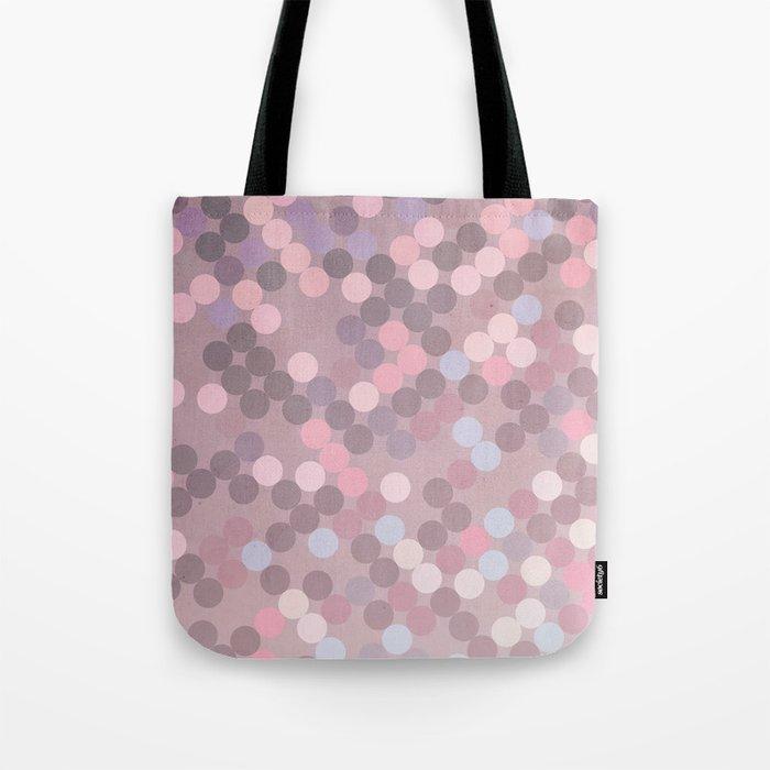 Polka Dots Geometry Tote Bag