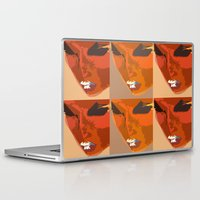 no face Laptop & iPad Skins featuring Face by Iconic Arts