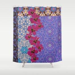 Blue Floral Shower Curtain