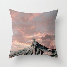 WAVE # 2 - sky Throw Pillow