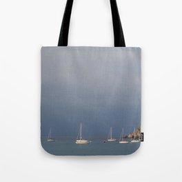 seascape: sei barche a S'ant Angelo Tote Bag