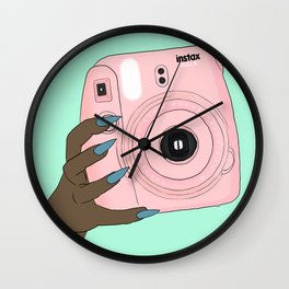 pink instax Wall Clock