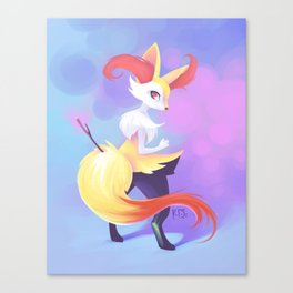 Colorful Kitsune Canvas Print