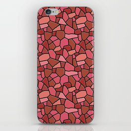 Stained Glass Red iPhone Skin