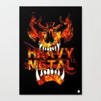 heavy metal Canvas Prints featuring Heavy Metal by Lindsay Spillsbury