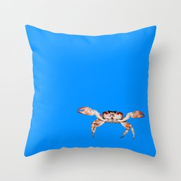 Lonely Crab - Blue Throw Pillow