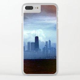 Foggy Skyline #22 Clear iPhone Case