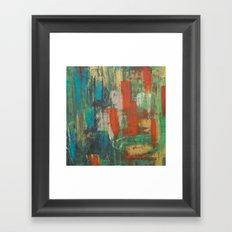 Orange Rush Framed Art Print