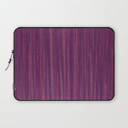 Stripes  - purple and red Laptop Sleeve