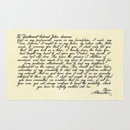 Alexander Hamilton Letter to John Laurens Rug