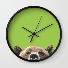 Bear - Green Wall Clock