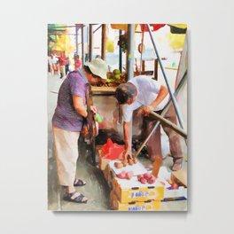 Street Vendors 1 Metal Print