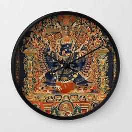 Tantric Buddhist Vajrabhairava Deity 2 Wall Clock