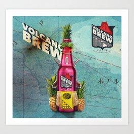 Volcano Brew - I lava you! Art Print