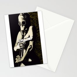 Gas Mask Girl Stationery Cards