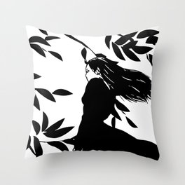 Kaze (Wind) Throw Pillow