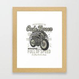 Caferacer Motorcycle Vintage Poster Framed Art Print