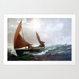 Charles Napier Hemy, 1841-1917, 1916, running for home Art Print