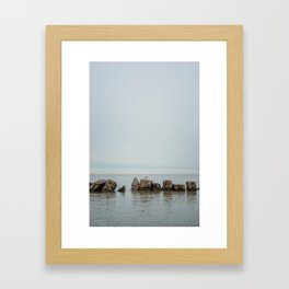 Along the Lake Framed Art Print