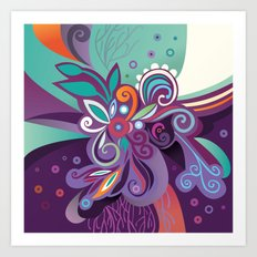 Floral curves of Joy Art Print