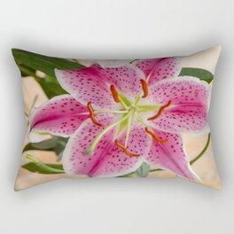 Oriental Lily Pair Rectangular Pillow