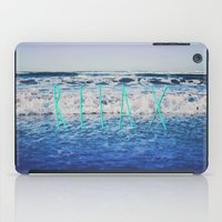 relax iPad Cases featuring Relax by Leah Flores