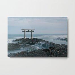 Ocean Shrine Metal Print