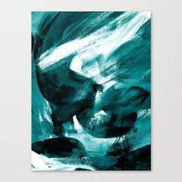 Abstract Artwork Petrol #1 Canvas Print