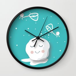 Building a snowball Wall Clock