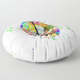 Human Brain Floor Pillow