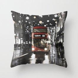 London Oxford Street Throw Pillow
