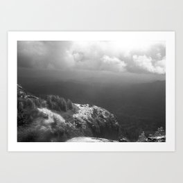 Table Mountain before the storm Art Print