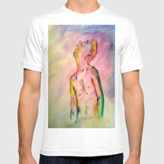 transient constance  Mens Fitted Tee MEDIUM White