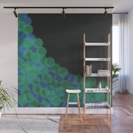 Bubble Green and Blue Wall Mural