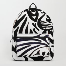 Lion face black and white Backpack